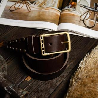 Западный кожаный ремень с подарочной коробкой