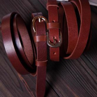 Коричневый кожаный ремень, Кожаный ремень женский, Кожаный ремень, Женский кожаный ремень
