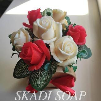 Букет из роз, букет из мыльных роз