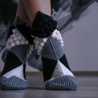 "Носки ""Ножки Эльфа"" шахматные"