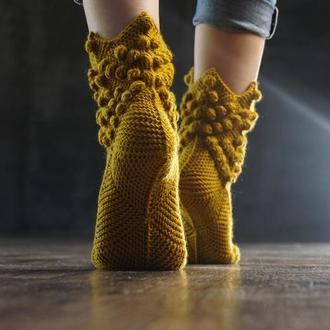 """Носки """"Ножки Эльфа"""" горчица"""