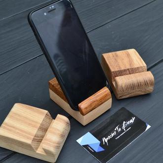 Деревянная подставка для телефона, Подставка для мобильного телефона из дуба, Подставка из дерева