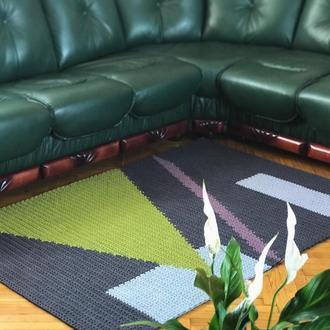Ковер вязаный крючком декор для дома интерьерный декор коврик ковер для спальни ковер на кухню в зал
