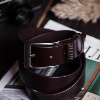 Персонализированный кожаный пояс для него Подарок мужу Подарок для мужчин на заказ мужской ремень