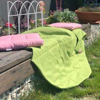 Покрывало одеяло-лист, коврик для игр. Коврик на природу.