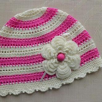 Летняя шапочка Малинка