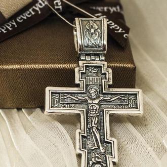 Большой Крест серебряный мужской.
