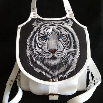 "Рюкзак с тиснением ""Белый тигр"""