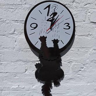 """Оригинальные настенные часы """"Сползающий кот"""", часы с котом"""