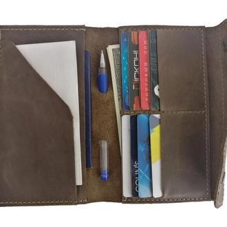 Бумажник для документов оливкового цвета х2 (10 цветов)