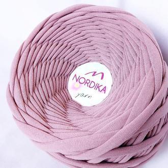 Трикотажна пряжа Nordika Yarn 7-9 мм суха троянда 022