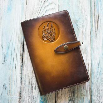 Мужской кожаный блокнот. Маленький коричневый блокнот. Купить блокнот для парня