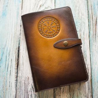 Мужской кожаный блокнот. Купить кожаный блокнот. Блокнот в кельтском стиле.