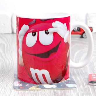 Чашка M&M's (Красный)
