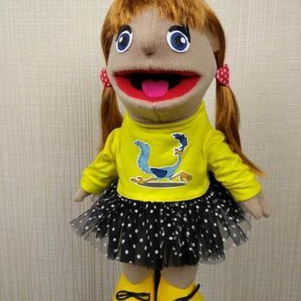 Светочка кукла на руку с открывающимся ртом