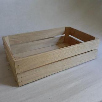 Ящик деревянный 40х25х12см. Дуб