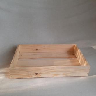 Ящик-лоток деревянный 40х25х8см