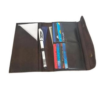 Бумажник для путешествий кожаный коричневый рас2 (12 цветов)