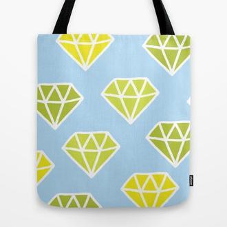 Эко сумка Диаманты. Сумка из ткани, тряпичная сумка Диаманты. Сумка из льна с рисунком Диаманты
