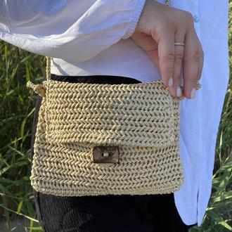 Клатч - сумка из рафии