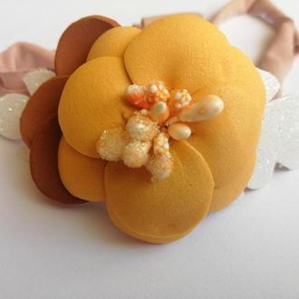 Повязка на голову цветок