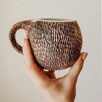 Керамическая чашка- кокос