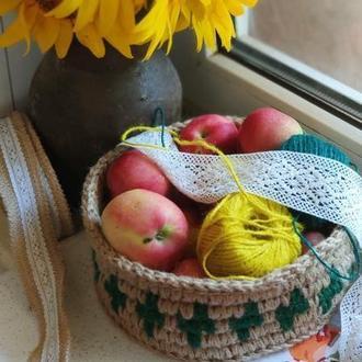 ЭКО корзина из джута для хранения и декора