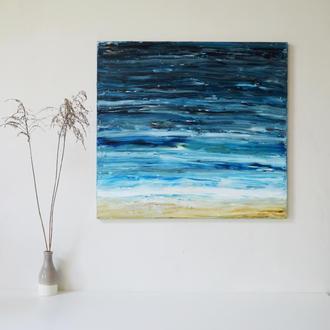 """Картина """"Океан"""". 70х65 см. Масло. Холст на подрамнике. Единственный экземпляр"""