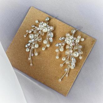 Серьги, свадебные серьги, серьги для невесты
