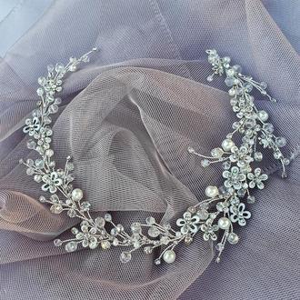Свадебное украшение для волос, веточка в прическу, серьги, украшения в прическу на выпускной