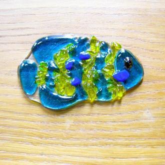 Декор из стекла рыбки, фьюзинг декор рыбки, стекло в интерьере, украшение для сада, украшение дома