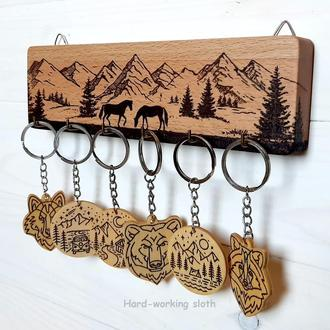 Ключница «Лошади в горах»
