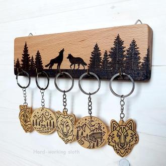 Ключница «Волки в лесу»