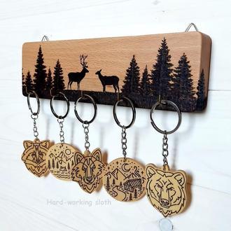 Ключница «Олени в лесу»