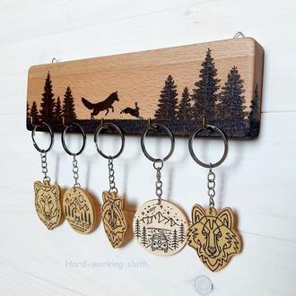 Ключница «Лиса в лесу»