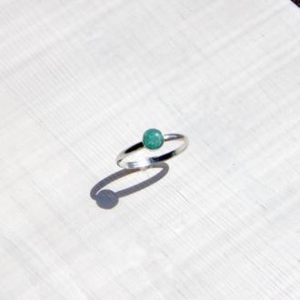 Серебряное кольцо с амазонитом, серебряное кольцо с камнями, подарок