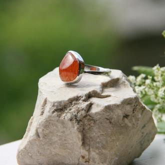 Серебряное кольцо с сердоликом, крупное серебряное кольцо, серебряное кольцо с камнями