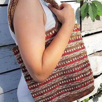 """Літня сумка-торбинка з рафії """"Дарую спокій"""""""