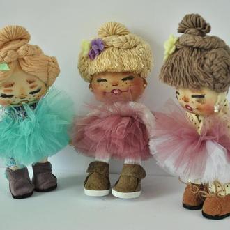 Кукла малышка в платье-пачке
