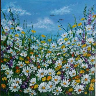 Картина маслом Ромашковое поле