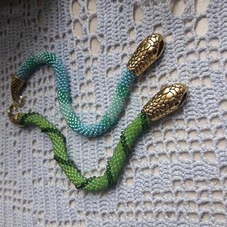 Браслет жгут из бисера змейка