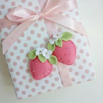 Детские резиночки для волос ягодки