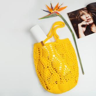 Ажурная сумка-авоська