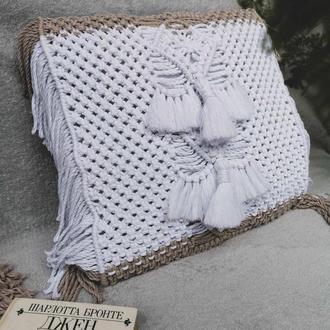 Накидка макраме для подушки