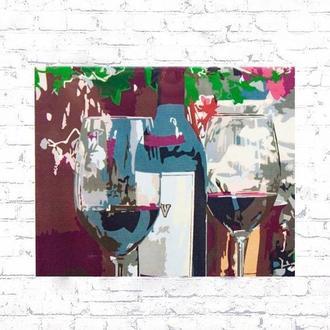 Картина по номерам Rosa Вино для двох N00013446 (45 х 35 см)