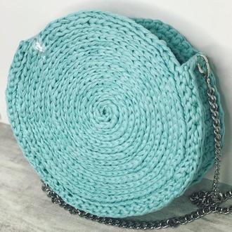 Женская круглая сумка-печенька