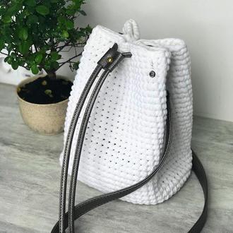 Белая сумка торба из 100%хлопка