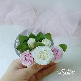 Шпильки с розами