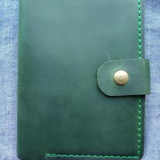 Стильный чехол портмоне из кожи для водителя