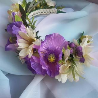 Обруч для волос Полевые цветы